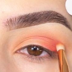 Fall Eye Makeup, Cute Eye Makeup, Summer Eye Makeup, Subtle Makeup, Eyebrow Makeup, Summer Eyes, Makeup Before And After, Eye Tutorial, Makeup Goals