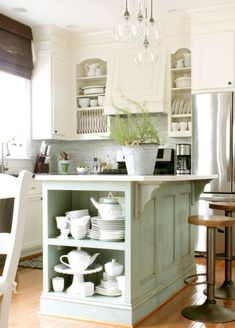 Small modern farmhouse kitchen ideas farmhouse kitchen love the island fresh farmhouse farmhouse kitchen island farmhouse kitchen decor and kitchen styling Country Kitchen Island, Stools For Kitchen Island, Farmhouse Style Kitchen, Modern Farmhouse Kitchens, Farmhouse Kitchen Cabinets, Kitchen Cabinet Design, Kitchen Redo, Rustic Kitchen, New Kitchen