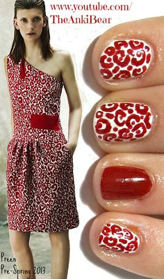 Nail design inspired by Preen Pre-Spring 2013 dress.