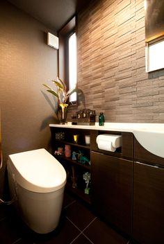 Japanese modern small space bathroom.