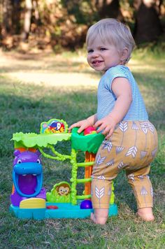 Liven up backyard play with the Bright Starts Jungle Fun Ball Climber
