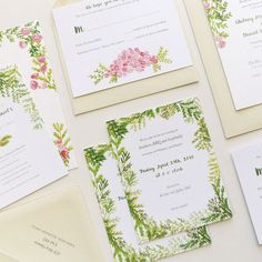 October 2015 Blog Post. Whitney and Dan's custom wedding stationery illustration by Katie Wilson for Jolly Edition by @jollyedition