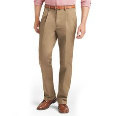 Big & Tall IZOD Pleated Chino Pants, Lt Beige