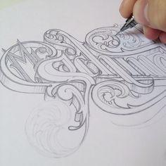 Bending letters