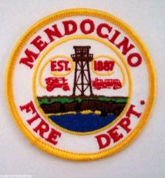 MENDOCINO, CALIFORNIA  FIRE DEPARTMENT SHOULDER PATCH - NEW  #BadgesPatches