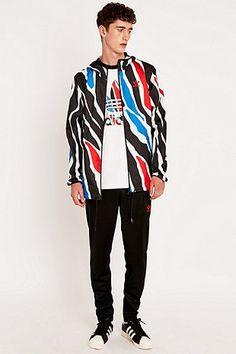Adidas - Veste zippée à imprimé zèbre