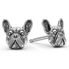 French Bulldog Breed Jewelry Puppy Face Earring Studs