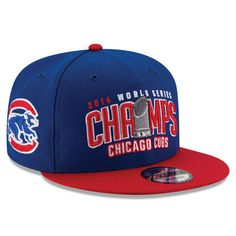 9aeea617d2e69 Chicago Cubs New Era 2016 World Series Champions Two-Tone 9FIFTY Snapback  Adjustable Hat - Royal Red