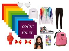 """""""color lover"""" by saggittarius ❤ liked on Polyvore featuring adidas Originals, Vans, JanSport, Victoria Beckham, Ted Baker and Crayo"""