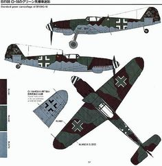 https://flic.kr/p/4vAA4H | (For Aero Modelers) Messerschmitt Bf 109 G Camouflage and Markings (in english and japanese) 05