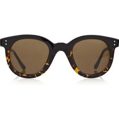 Linda Farrow Luxe D-frame tortoiseshell acetate sunglasses ($500) ❤ liked on Polyvore