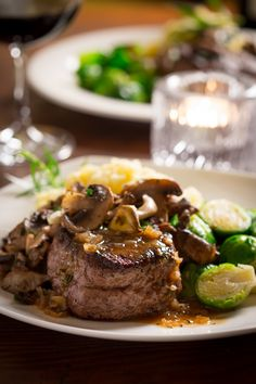 Big Sexy Steaks with Tarragon Mushrooms and Shallot Vermouth Reduction Sauce | Healthy Seasonal Recipes