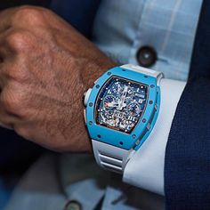 Beautiful shot of the new released Richard Mille BLUE Ceramic RM011.