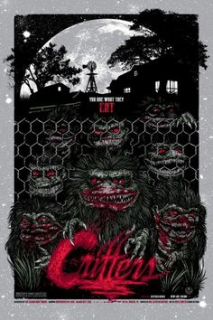 I'm tempted to make a board that is ALL Mondo style posters...if I could afford it, my entire house would be decorated in Mondo style posters...oh, and Critters is legitly awesome.
