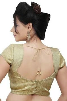 Gold Designer ideal for wear- New Saree Blouse Designs, Cutwork Blouse Designs, Blouse Designs Catalogue, Simple Blouse Designs, Stylish Blouse Design, Bridal Blouse Designs, Blouse Styles, Traditional Blouse Designs, Designer Blouse Patterns