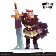 Video game character design // KnightHood by Midoki on Behance Game Character Design, Fantasy Character Design, Character Design Inspiration, Character Concept, Game Design, Character Art, Concept Art, Video Game Characters, Fantasy Characters