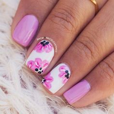 Need some nail art inspiration? browse these beautiful nail art designs and get inspired! Flower Nail Designs, Pretty Nail Designs, Flower Nail Art, Nail Art Designs, Nails Art 2016, Nagel Gel, Fabulous Nails, Diy Nails, Beauty Nails