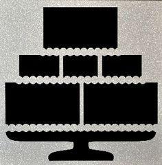 EZLaserDesigns : Wedding Cake  scrapbook overlay reception layout
