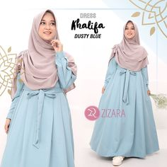 Gamis Zizara Khalifa Dress Dusty Blue - baju muslimah busana muslim Kini hadir untukmu yang cantik syari dan trendy . . Detail : - Bahan : BALOTELI IMPORT - Bumil & Busui Friendly - Resleting di dada - Saku di kanan - Tangan Manset - Tali Kanan Dan Kiri - Lebar bawah -/ 3 meter . . S : LD 98 PB 135 M : LD 100 PB 137 L : LD 104 PB 140 XL : LD 110 PB 142 . . Ready size XL Harga Rp 220.000 (gamis saja) . . www.facebook.com/gamiszizara www.tokopedia.com/gamiszizara www.bukalapak.com/gamiszizara… Abaya Fashion, Muslim Fashion, Modest Outfits, Casual Dresses, Hijab Style Dress, Modele Hijab, Muslim Dress, Beautiful Hijab, Diy Dress