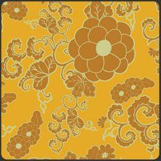 1/2 yard Dynasty Saffron from Indie by BeeYourselfFabrics on Etsy, $7.95