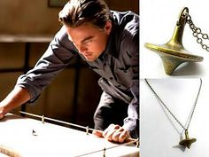 Inception: Dominic Cobb's brass spinning top totem pendant necklace, $8