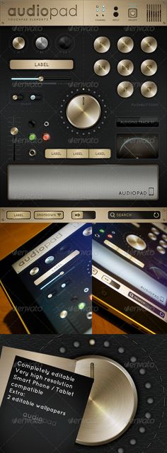 Audiopad - Touch User Interinterface, you can buy this GUI PSD on GraphicRiver for just $5