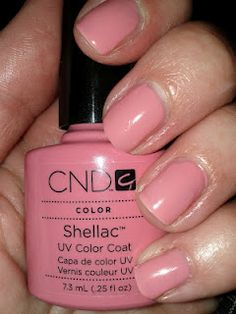 CND Shellac in Rose Bud. Check out my blog for more Shellac swatches :)  via @lipglossbreak