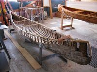A while back, I wrote briefly about a Chestnut Cruiser slated for restoration. This model of paddling canoe is one of my favorites. Wooden Canoe, Diy Boat, Canoes, Paddles, Outdoor Furniture, Outdoor Decor, Woodwork, Hammock, Wood Working