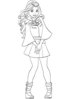 evie descendants wicked world coloring page