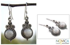 Sterling Silver 'Clouds of Desire' Pearl Earrings (India) - Overstock Shopping - Great Deals on Novica Earrings