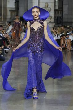 And so the witch arrived at the Ball! George Hobeika Fall Winter 2017 Couture Fashion Show Paris