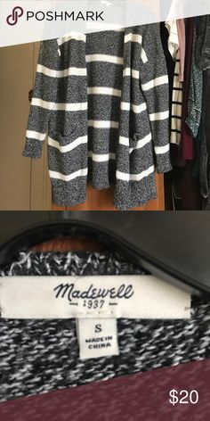 Madewell striped cardigan Cotton, viscose, and nylon Madewell Sweaters Cardigans