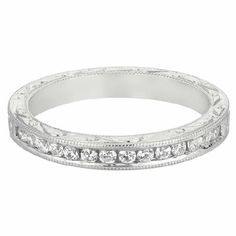 WEDDING BAND 14KT WHITE GOLD
