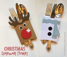 Christmas Silverware Holders - VIDEO TUTORIAL