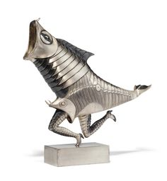 Francisco Toledo (b. 1940) Benda signed and numbered 'Toledo 5/12' (near the base); stamped 'TANE' (on the tail) cast silver 11 in. (27.9 cm.) high Conceived circa 1979 and executed in an edition of twelve Provenance:Tane, Mexico City.