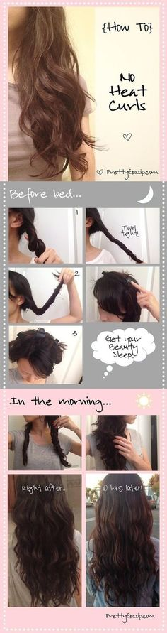 Tutorial - No heat curls #hair #curls