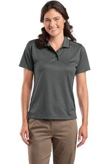 53bc76bc Sport-Tek Ladies Dri-Mesh Polo with Tipped Collar and Piping, Medium,  Blk/White