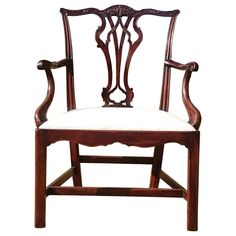 18th Century George III Period Mahogany Antique Armchair or Desk Chair