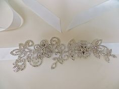 Rhinestone Bridal Sash Wedding Gown AccessoryCrystal by ctroum, $65.00