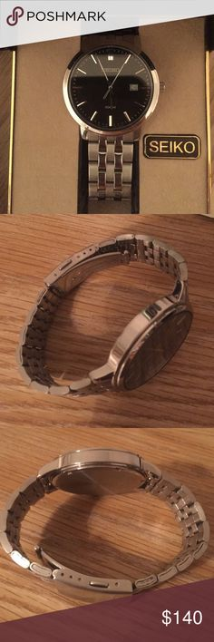 Seiko watch Seiko watch that is in like new condition. I recently bought it and now wanting to sell. I paid $250 for it. I have the extra links and original case. Seiko Accessories Watches