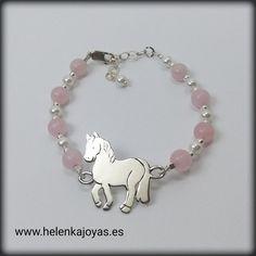 Pulsera caballo plata Horse Jewelry, Charmed, Horses, 3d, Ideas, Bangles, Bangle Bracelets, Custom Jewelry, Teachers