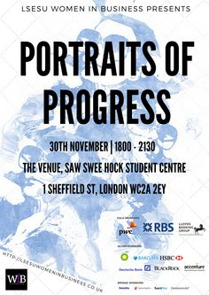 LSESU Women in Business Portraits of Progress event. Poster 1.