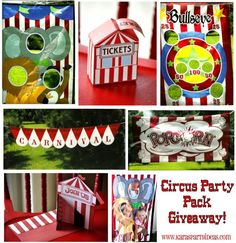 WINNER of the CIRCUS/CARNIVAL PARTY PACK!, Kara's Party Ideas
