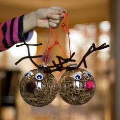 Easy to make reindeer ornaments