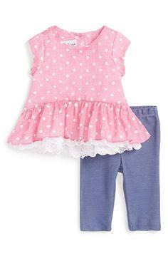 Pippa & Julie Polka Dot Top & Leggings (Baby Girls) available at #Nordstrom