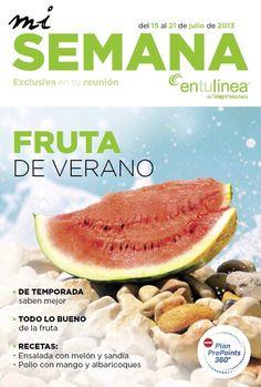 """Es tiempo de #verano.. es tiempo de #FRUTA! Esta semana ven a tu #reunion @entulínea y conoce todos los beneficios que la #fruta puede aportarte así como muchas #recetas para sacar el máximo partido de ella.  No te pierdas tu #reunion y """"Disfruta la #fruta""""  Centro @entulínea #Alcorcon C/Fuenlabrada, 32"""