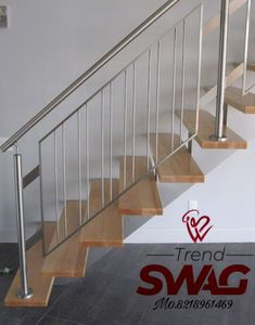 Steel Railings 202grade=210 Rs   We are Manufacturing All types of steel Railing windows grills and metal main gates security grills etc  Steel furniture manufacturer in Bareilly Uttar Pradesh , mumbai , Maharashtra , noida , delhi , Bangalore , west bengal , kolkata , haryana , bihar , Andhra Pradesh , himachal pradesh , Uttara khand , all over india Service availability Home delivery services available for all over india Fast Manufacturing service  get it now in just one click Call us at  821 Steel Railing Design, Staircase Railing Design, Modern Stair Railing, Staircase Handrail, Balcony Railing Design, Modern Stairs, Interior Design Under Stairs, Home Stairs Design, Home Room Design