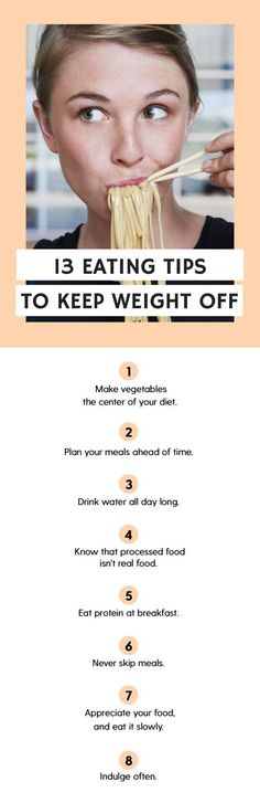 13 Healthy Eating Tips To Keep Weight Off For Good.
