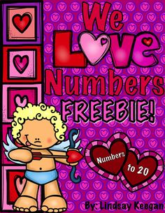 Numbers to 20 FREEBIE!  Heart themed, great for Valentine's day and beyond.