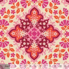 Tkanina NOTTING ORNAMENT pink orange 1034